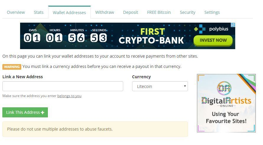 Create Bitcoin Faucet What Is The Bitcoin Address For My Bank